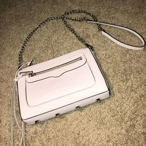 Rebecca Minkoff Avery Leather Crossbody Bag in Ice
